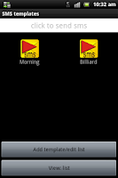 Screenshot of SMS Templates