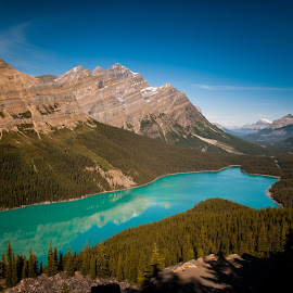 Glacial Lake by Sheldon Anderson - Landscapes Mountains & Hills ( water, mountain, canada, day, landscape, river )