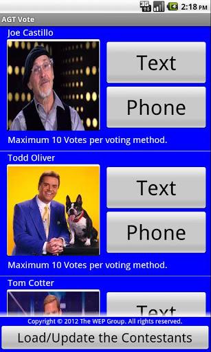AGT Vote
