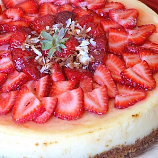 Strawberry- Coconut Cheesecake
