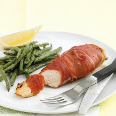 Prosciutto-Wrapped Chicken Breast with Roasted Green Beans