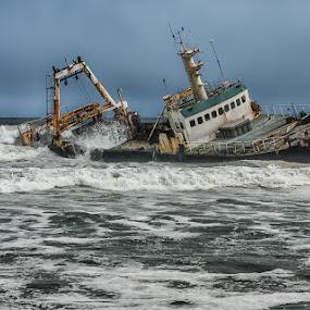 Sceleton coast by Andrej Topolovec - Transportation Boats ( namibi )