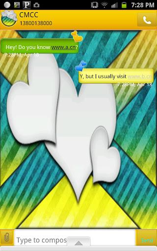 GO SMS - Bright Hearts 2
