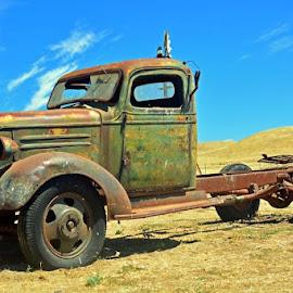 Beautiful Old Truck by Diane Clontz - Transportation Automobiles