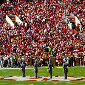 Alabama Drum Majors by Brianne Cronenwett - Sports & Fitness Other Sports ( drum major, marching band, bryant-denny, crimson tide, alabama,  )