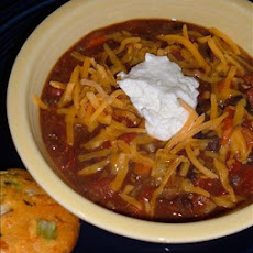 Cheesy Vegetable Chili Soup