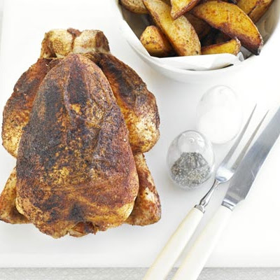 BBQ roast chicken & chunky chips
