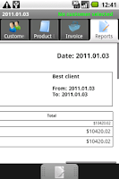 Screenshot of PGM-Invoice Best Client Report