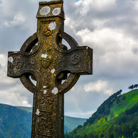 A Cross. Glendalough - Dublin by Stuart Reeve - Landscapes Prairies, Meadows & Fields (  )
