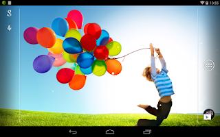 Screenshot of Galaxy Balloon HD Wallpaper