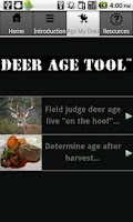 Screenshot of Deer Age Tool