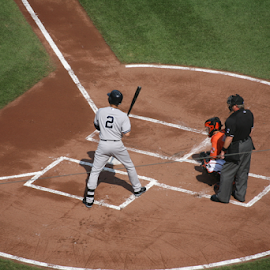 Jeter at the plate by Alec Halstead - Sports & Fitness Baseball