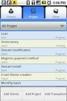 Screenshot of Client Management