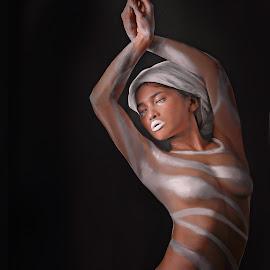 SECRETS OF THE DEAD by Fsm Fashionstudiomanila - People Body Art/Tattoos ( warrior, fsm, stripes, bodypaint, amazon )