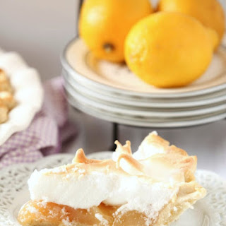 Lightened Meyer Lemon Meringue Pie (Lower Calorie, Lower Fat)