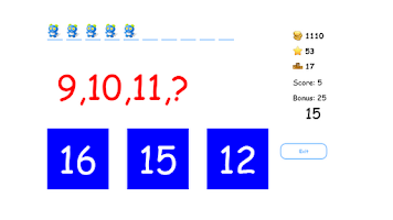 Screenshot of Cool Fun Math Kids Game puzzle