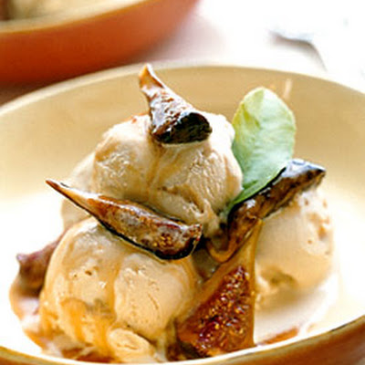Dulce de Leche Ice Cream with Honey-Orange Roasted Figs