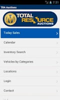 Screenshot of TRA Auctions for Buyers