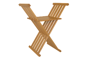 The Chisbury Stool - Folding Occasional Chair in Oak