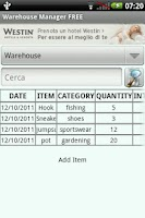 Screenshot of Warehouse Manager FREE