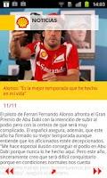Screenshot of Shell, Estaciones de Servicio.