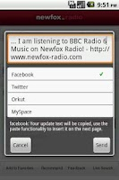 Screenshot of Newfox Radio
