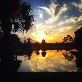 Early Florida Light by Greg Frye - Landscapes Sunsets & Sunrises ( clouds, sky, lake, sunrise, landscape )