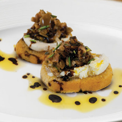 Olive Tapenade on Bruschetta