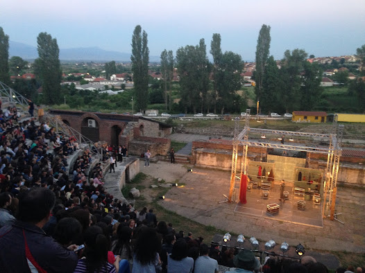 View from the top of the amphitheatre during the performance