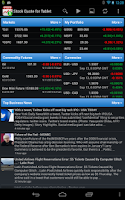 Screenshot of Stock Quote for Tablet