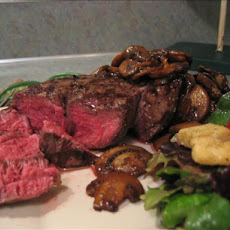 Perfect Tenderloin Steak / Filets With Mushrooms
