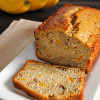 Tropical Mango Banana Bourbon Bread