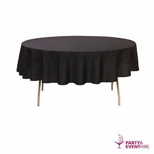 Table Cloth Round - Black