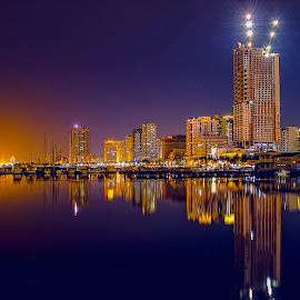 Manila At Twilight by Farley Avellaneda - City,  Street & Park  Skylines ( night photography,  )