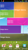 Screenshot of Widget Memo