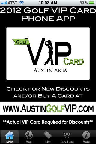 Golf VIP Card - Austin