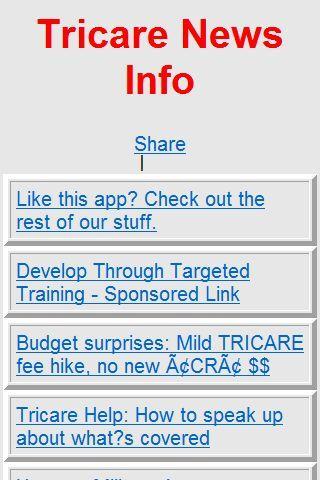 Tricare News