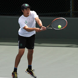 backhand by Ron Tong - Sports & Fitness Tennis ( ball, racket, fitness, exercise, tennis )