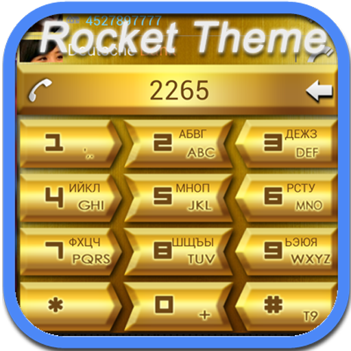 RocketDial Golden Theme 2nd LOGO-APP點子