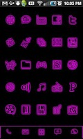 Screenshot of GloWorks Pink ADW Theme