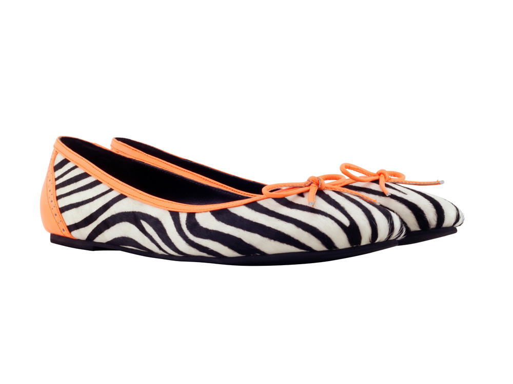 Shoes Zebra and Orange Ballet Flats