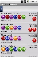 Screenshot of UKLotto