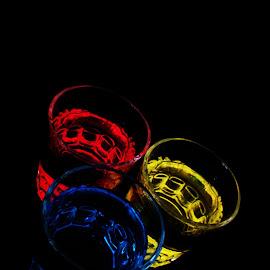 dark drink by Renco Gotovac - Food & Drink Alcohol & Drinks ( red, blue, drink, glass, dark, yellow, drinks )