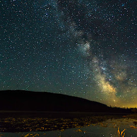 Milky Way Over Solco by Bonnie Davidson - Landscapes Starscapes ( Urban, City, Lifestyle )