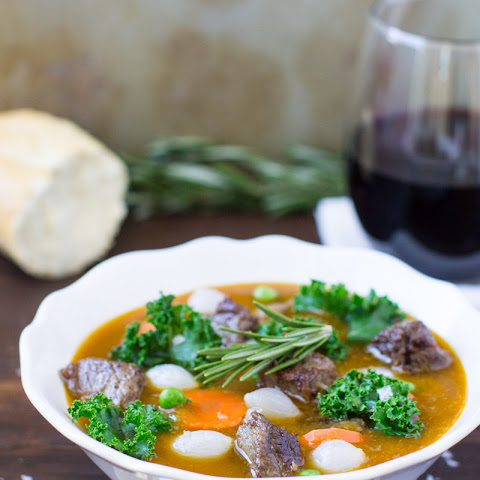 Beef Stew with Kale, Rosemary, and Sweet Potatoes