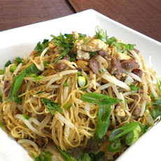 Thai Mee Krob W/ Stir-Fried Pork and Chicken