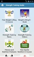 Screenshot of Strength Training Guide!