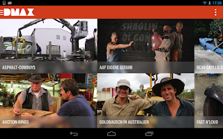 Screenshot of DMAX App