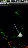 Screenshot of Pendulum Lab Physics Simulator