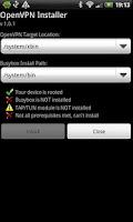 Screenshot of OpenVPN Installer